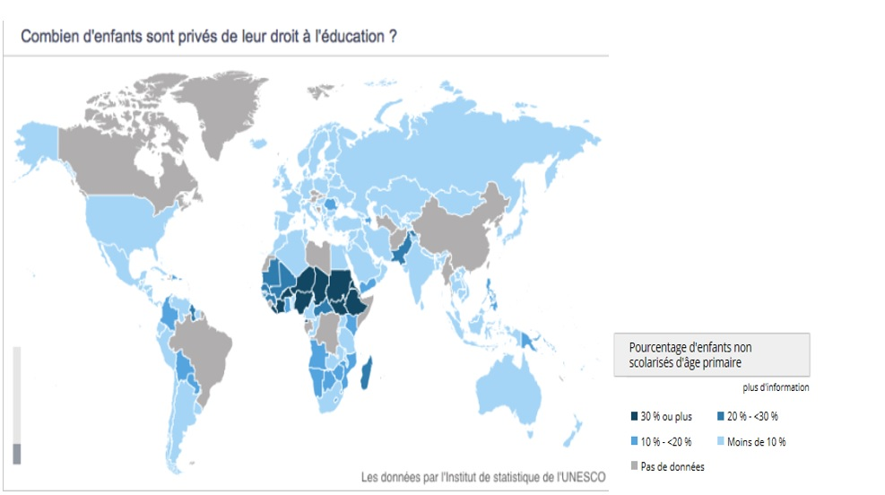 carte education monde – IPODE – Think Tank Panafricain